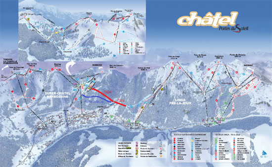 Linga - Chatel link piste map